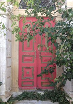 Lovely painted door on the island of Kos in Greece