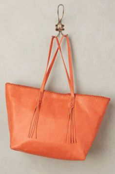 NWOT NEW ANTHROPOLOGIE ASH CORAL CLOVER TOTE BAG PURSE WITH DUST JACKET #Ash #TotesShoppers