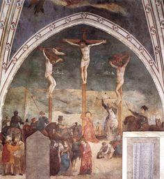 Masolino ~Kruisiging ~ ca. 1425-1431 ~ Fresco ~ Capella Castiglione, San Clemente, Rome
