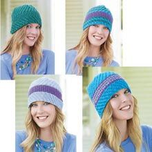 Mathilde Cloches Pattern- Available from WillowYarns.com -One awesome intermediate knit hat pattern with four style options!
