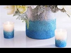 How to Make an Ombre Glittered Vase, turns out beautifully :)