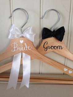 UK seller: Wedding Coathanger for bride and von CarlysBaubles