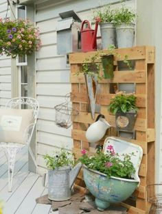 I would use this same concept EXCEPT using a piece of iron and NOT a pallet.
