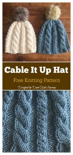 cable knitting patterns Cable It Up Scarf and Hat Free Knitting Pattern Baby Knitting Patterns, Baby Hats Knitting, Knitted Hats, Stitch Patterns, Knitted Bunnies, Knitted Scarves, Vogue Knitting, Knit Sweaters, Knitting Tutorials