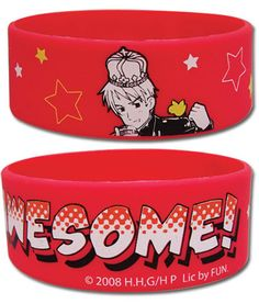 "Hetalia Prussia ""I Am Awesome"" PVC Rubber Bracelet Wristband anime GE-54009  I have this bracelet!"