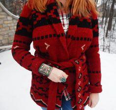 Rustic Navajo Sweater
