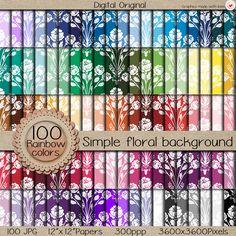 "Sale-100 Digital papers ""MEGA pack"" / Simple antique floral background  / 300 ppi  / instant download. de  LilyColor.etsy.com  #digitalpaper #papelesdigitales #printables #descargainmediata #scrapbooking #digitalpaper #craft #digitaldocuments #patterns #backgrounds #etsy #instantdownload #printable #clipart"