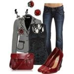 Business Casual Red