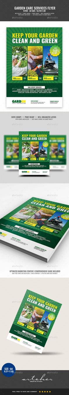 Landscaping Services Flyer Template PSD