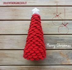 crochet tutorial for christmas tree ♥ Christmas Yarn, Crochet Christmas Decorations, Crochet Christmas Trees, Christmas Tree Pattern, Christmas Crochet Patterns, Holiday Crochet, Easter Crochet, Crochet Toys Patterns, 1st Christmas