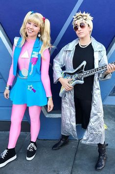 halloween costumes Okay, so the century isnt as cool as Zenon made it seem, but that doesnt mean its not fun to put on your best neon attire and say quot; Click through for more Halloween costumes! 90s Party Costume, Cartoon Halloween Costumes, Theme Halloween, Family Halloween Costumes, Halloween Outfits, Halloween Ideas, Happy Halloween, Halloween 2020, Zombie Costumes