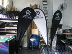 Small size Teardrop banner for Nanyang Poly Sport and Wellness