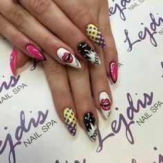 SPN UV LaQ 502 My wedding dress, 503 Black Tulip, 561 Night in Miami , 624 Sour Lemon, 619 My dream Nails by Alesia, Lejdis NailSpa, SPN Team Zielona Góra #nails #paznokcie #spn #spnnails