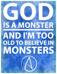 It's not the belief in monsters I care about. It's about what the monster believers do with their beliefs that concern me.