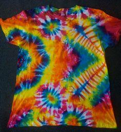 Radio mandala tie dye t shirt. How To Tie Dye, Tie Dye Shirts, New Crafts, Tye Dye, Cosmic, Printed Shirts, All Things, Mandala, Fabric