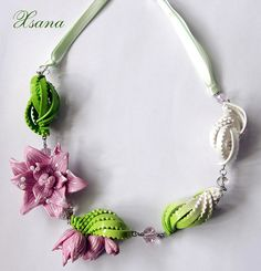 Polymer Clay necklace by Oksana Piven...amazing detail