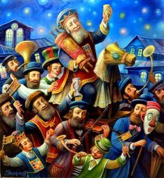 Purim Spiel Original By Boris Shapiro - The Jewish Jerusalem Fine Art Store