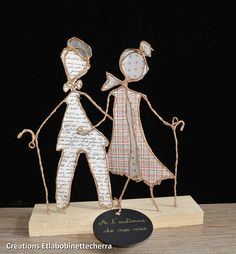 Items similar to the fall of our lives: kraft sculptures, wedding anniversary gift, string and paper, age, table decoration figurines on Etsy Anniversary Decorations, Wedding Anniversary Gifts, Wedding Gifts, Best Gifts For Grandparents, Grandparent Gifts, Cardboard Paper, Decoration Table, Birthday Gifts, Birthday Cakes