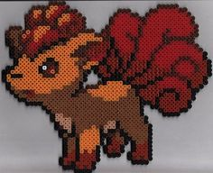 Vulpix in hama beads... I think its cute