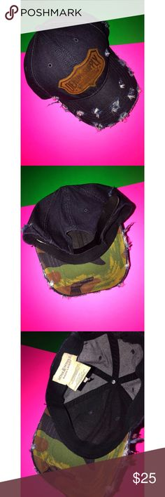 4a8c82a2a54 Ralph Lauren Denim   Supply Hat Distressed with a pullback strap Camouflage  in the inside Material is denim like Clean   In Good Condition Ralph Lauren  ...