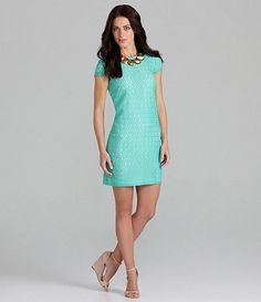 short sleeve lace dress.
