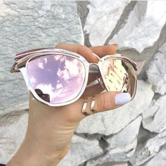 rose gold sunglasses, Candy Sunnies, TopFoxx sunglasses, women's reflective mirrored eyewear, pink sunglasses