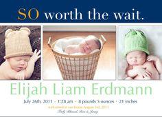 Adoption Birth Announcement #3