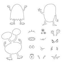 monster templates for kids - Google Search