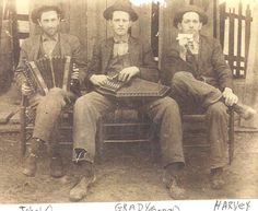 Left-right, 3 of Granny's brothers, John O, Grady, and Harvey in Blairsville, GA.