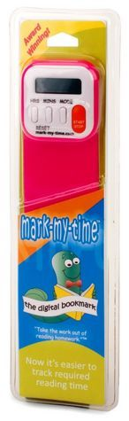 """Kids can monitor their own """"20 minutes of reading"""" assignment with this nifty bookmark with its built-in timer."""
