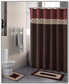 19 double swag bathroom shower curtain