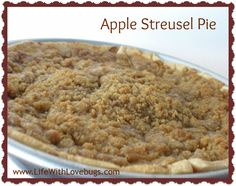 Apple Streusel Pie - Perfect holiday dessert!
