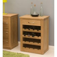 Aspire Oak Wine Rack Lamp Table