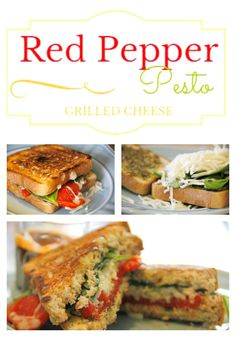 roasted red peppers, spinach, and pesto. Red Pepper and Pesto Grilled ...