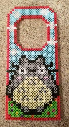 Totoro door hanger perler beads by Perler Bead Templates, Pearler Bead Patterns, Diy Perler Beads, Perler Bead Art, Perler Patterns, Hamma Beads 3d, Pearler Beads, Fuse Beads, Hama Beads Design
