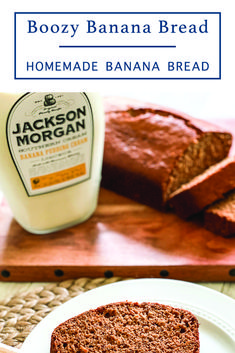 Make this delicious homemade boozy banana bread with the easy recipe from Everyday Party Magazine #Sponsored #SipAndBeSocial #BananaBread #Recipes