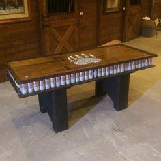 College DIY wood beer pong table