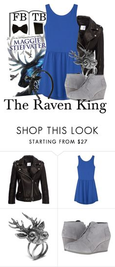 """""""the raven king"""" by ponyboy-and-stargirl ❤ liked on Polyvore featuring Anine Bing, MANGO, Mulberry, BOBS from Skechers and RED Valentino"""