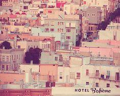 San Francisco Photo, pastel houses