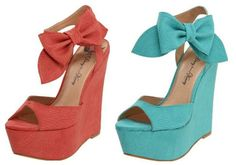 c50cc907212 Penny Loves Kenny  Dwight  platform sandals with ankle bow  gt  Shoes Heels  Wedges