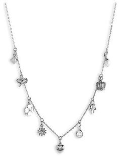 Juicy Couture 'Icons' Charm Necklace