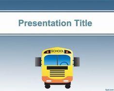 School Bus PowerPoint Template PPT Template