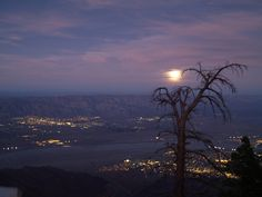 Full moon over Palm Springs. I love it here!