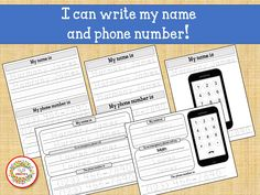 Kids Name Tracing Worksheet, Learn to Write Name, Learn Phone Number, Child's Name, First Grade Worksheets, Custom Worksheets
