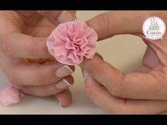 """A demonstration showing how to make a simple fondant rose cupcake from """"Fabulous Party Cakes and Cupcakes"""" Fondant Rose, Fondant Ruffles, Fondant Flowers, Ruffle Cake Tutorial, Fondant Flower Tutorial, Cake Decorating Techniques, Cake Decorating Tutorials, Royal Icing Flowers, Sugar Paste Flowers"""