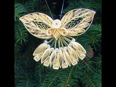 Paper Quilled Christmas Angel Ornament - Quilling Craft for Kids - YouTube