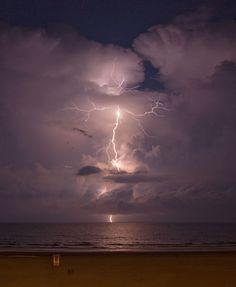 Great lightning shot on the South Carolina beach.
