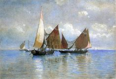 William Stanley Haseltine (1835-1900) ~ Venetian Fishing Boats - 1880