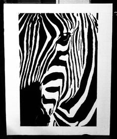Abstract zebra painting