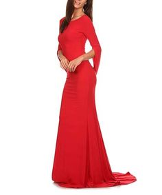 Look what I found on #zulily! Red Boatneck Maxi Dress #zulilyfinds